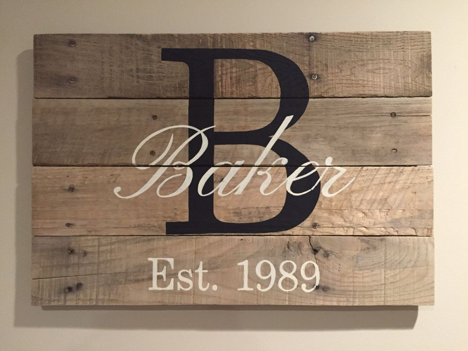 Nice Unique Gifts Family Part - 7: Family Monogram Pallet Sign Unique Christmas Gift Holiday Gift Wedding Gift  Bridal Shower Gift Anniversary Gift