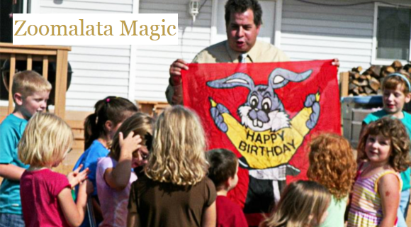 Zoomlata Magic Show Birthday Party Idea