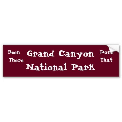 Grand Canyon National Park Bumper Sticker | Hiking & Biking -Travel ...