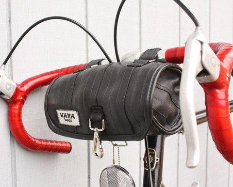 Vaya Bags Recycled Bike Tube Handlebar Bag by Vaya Bags   NYMB.co