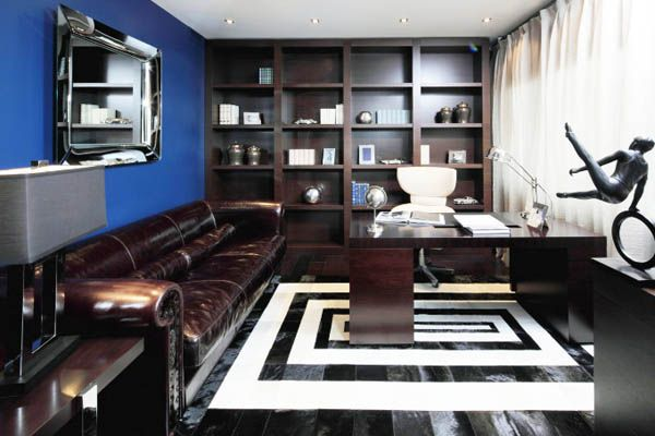 sapphire blue room colors deep blue color combinations for room decorating blue office room design