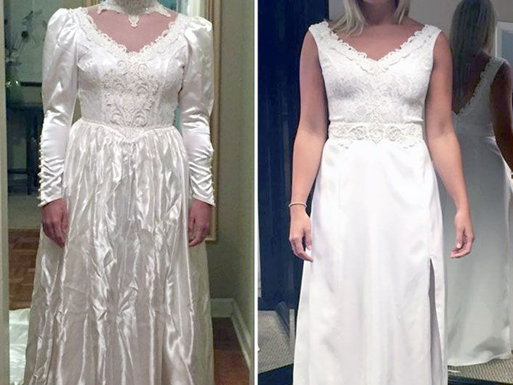 A Bride Updated Her Mom S Wedding Dress From The 80s To Surprise