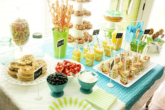 Fun Food Ideas For A Breakfast Or Pajama Theme Party