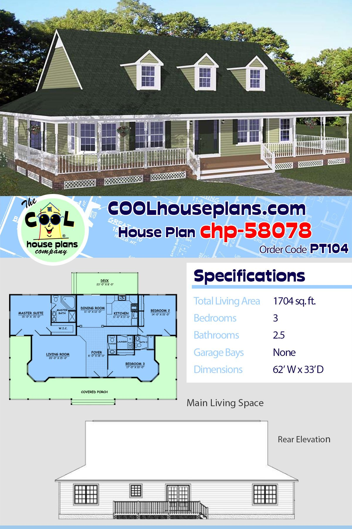 Southern Style House Plan 40678 With 3 Bed 3 Bath House Plans Southern House Plans Porch House Plans