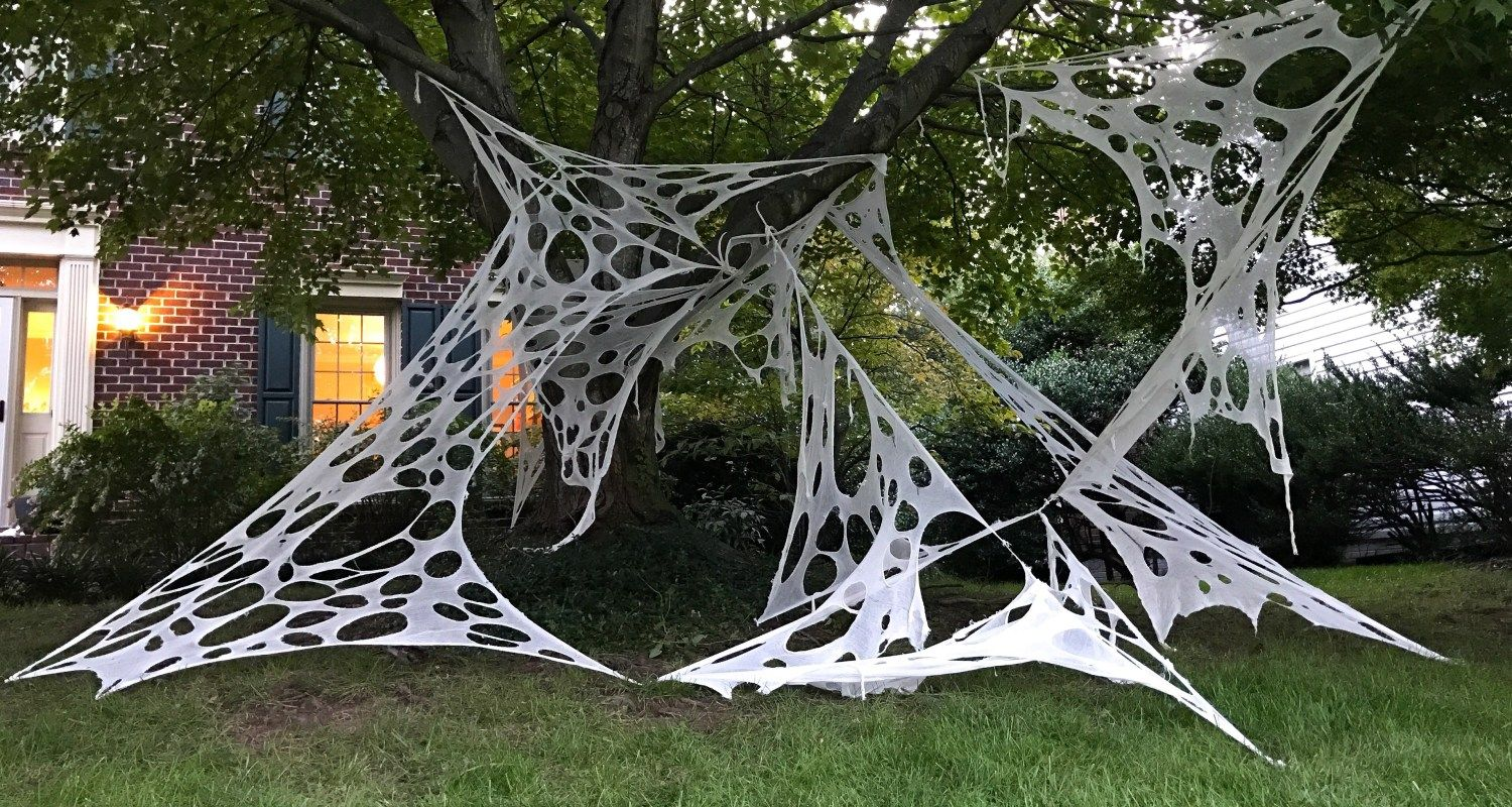 Halloween Projector 2020 Spider How To Make Giant Halloween Spider Webs   South Lumina Style   Diy