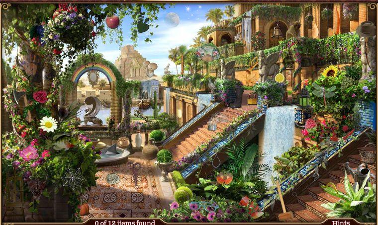 Babylon Hangender Garten Fantasielandschaft Fantasieschloss