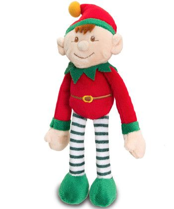 Small Santas Elf Plush Toy Red Keel Toys Christmas Keel Toys