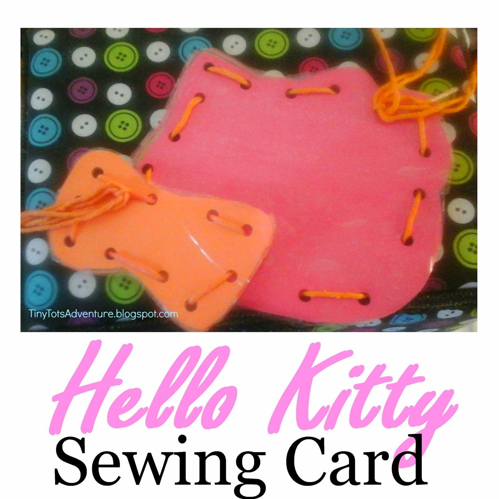 Tiny Tots Adventures Hello Kitty Sewing Cards