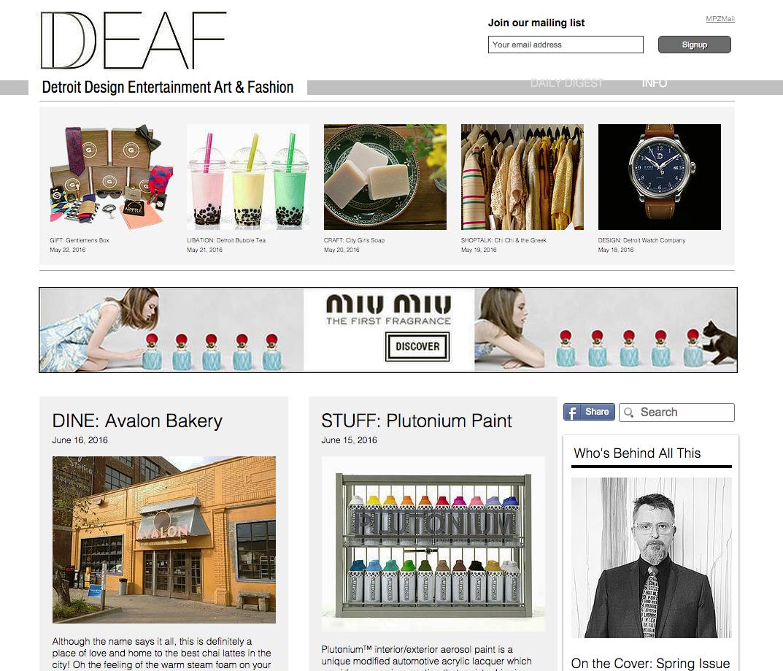 Product Feature via DDEAF Magazine > http://bit.ly/1UxKcBC  #SprayPaint #Detroit #Design #Craft #MadeInTheUSA