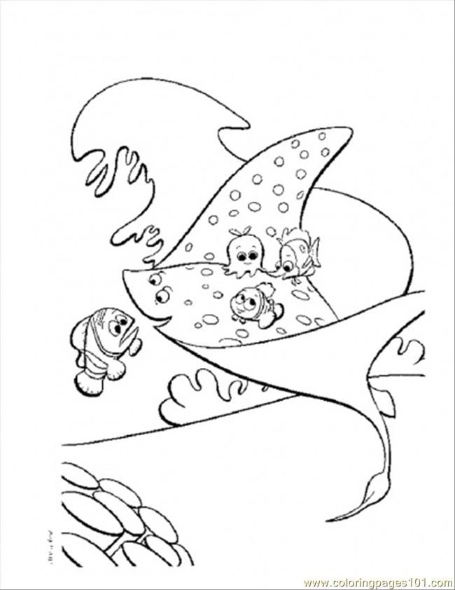 Stingray Coloring Page | Coloring Pages (Finding Nemo) | Pinterest