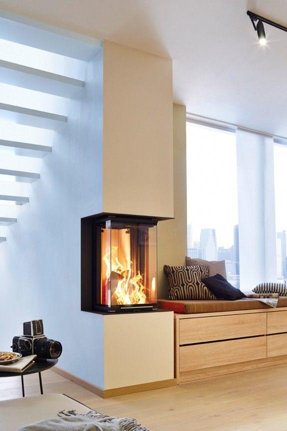 fest integriert ein panoramaofen unter der treppe openhaarden pinterest unter der treppe. Black Bedroom Furniture Sets. Home Design Ideas