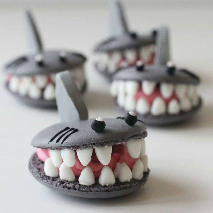 """AmourDuCake on Instagram: """"Shark week macarons"""