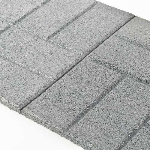 Rubber Patio Paver Tile Angled