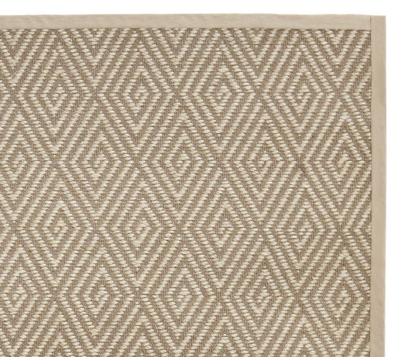 Stark Home Custom Diamond Sisal Rug Platinum Pottery