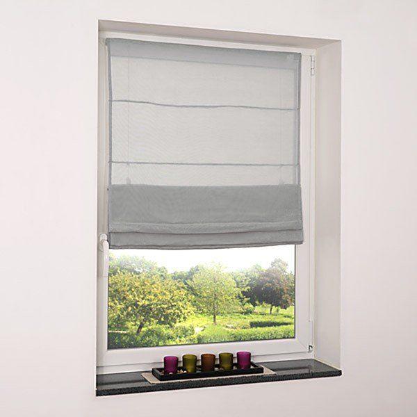 Fenster Raffrollo grau \/ viele Größen Gardinen Pinterest - gardine für küche