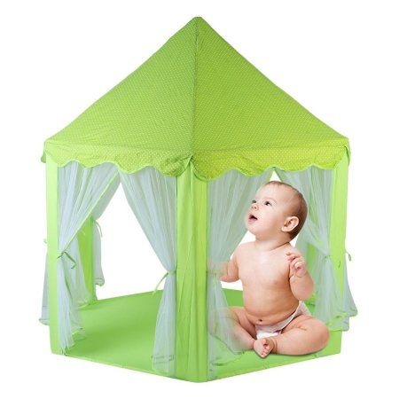 3352e0d5fe19 Foldable Hexagonal Type Portable Children Tent Indoor Outdoor Game Playing  Princess Castle Baby House Camping Toy
