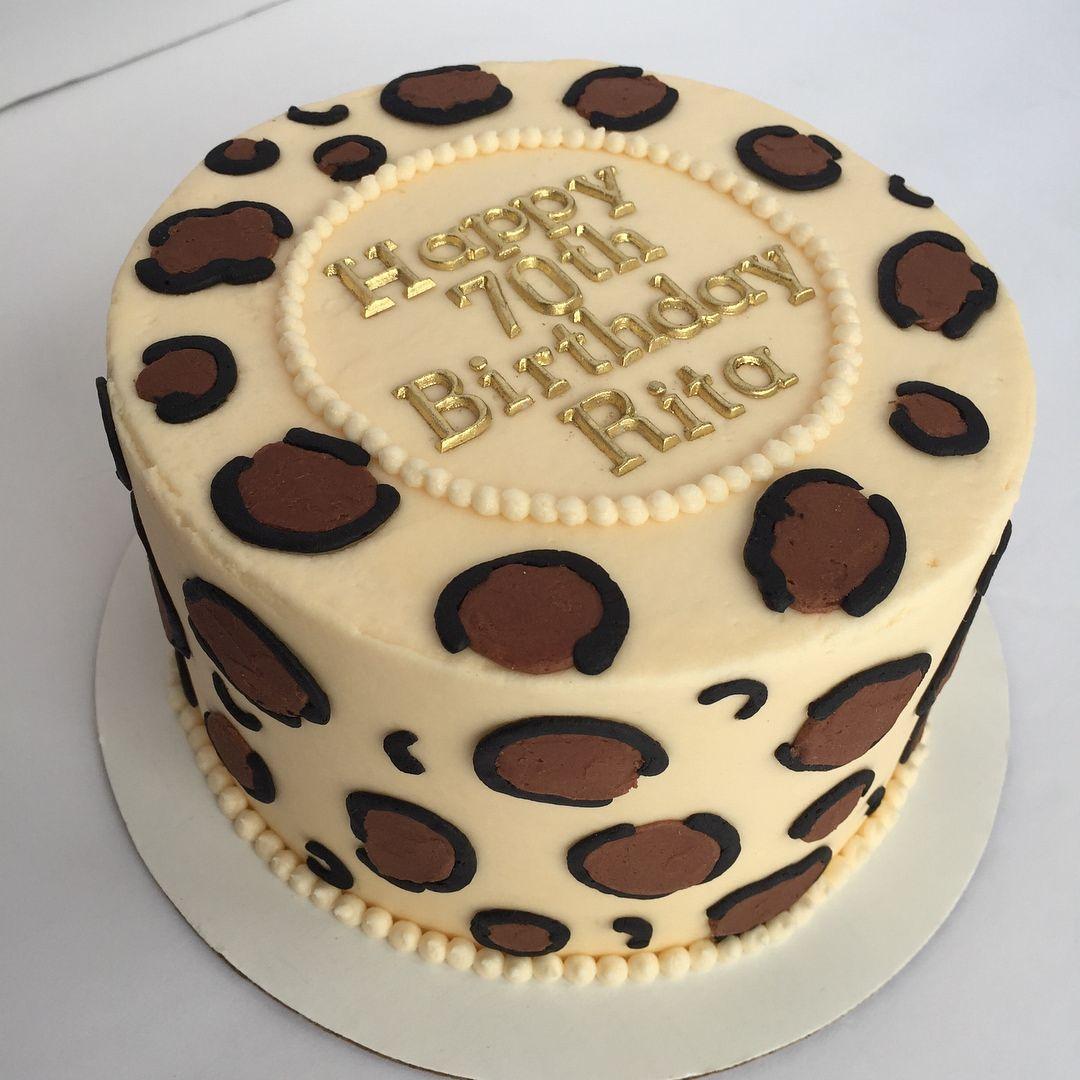 Amazing Cheetah Print Buttercream Cake With Images Cheetah Birthday Personalised Birthday Cards Vishlily Jamesorg