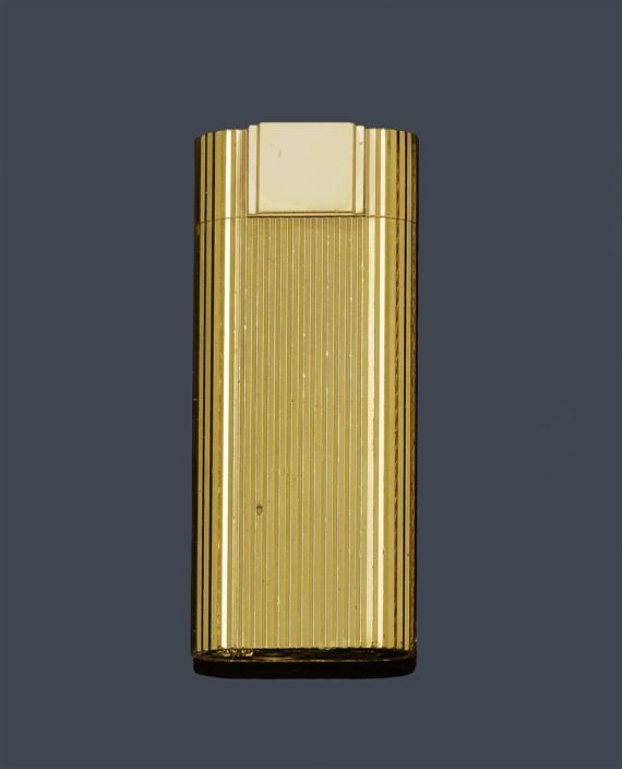 Cartier gold plated lighter, 1990