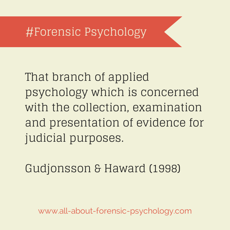 All About Forensic Psychology Applied Psychology Psychology Graduate Programs Psychology Student