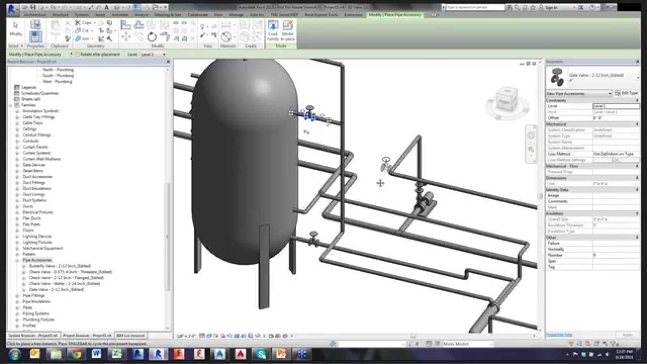 using autocad p id and revit mep for piping design [ 1280 x 720 Pixel ]