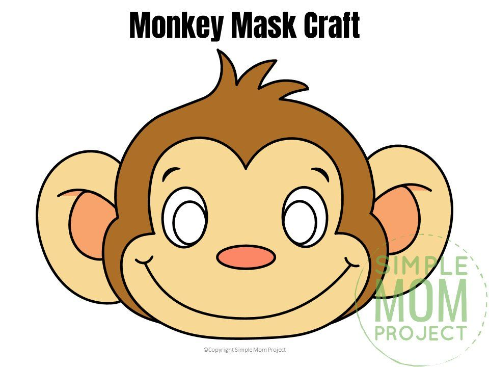 Free Printable Monkey Mask Template Safari Crafts Safari Animal