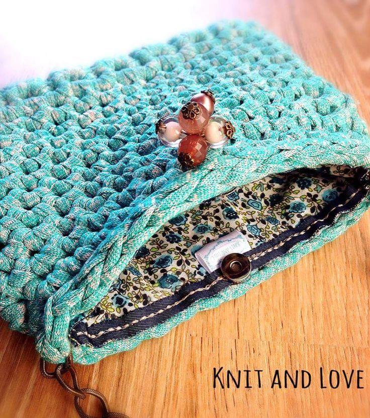 Bolso de trapillo de Knit and Love