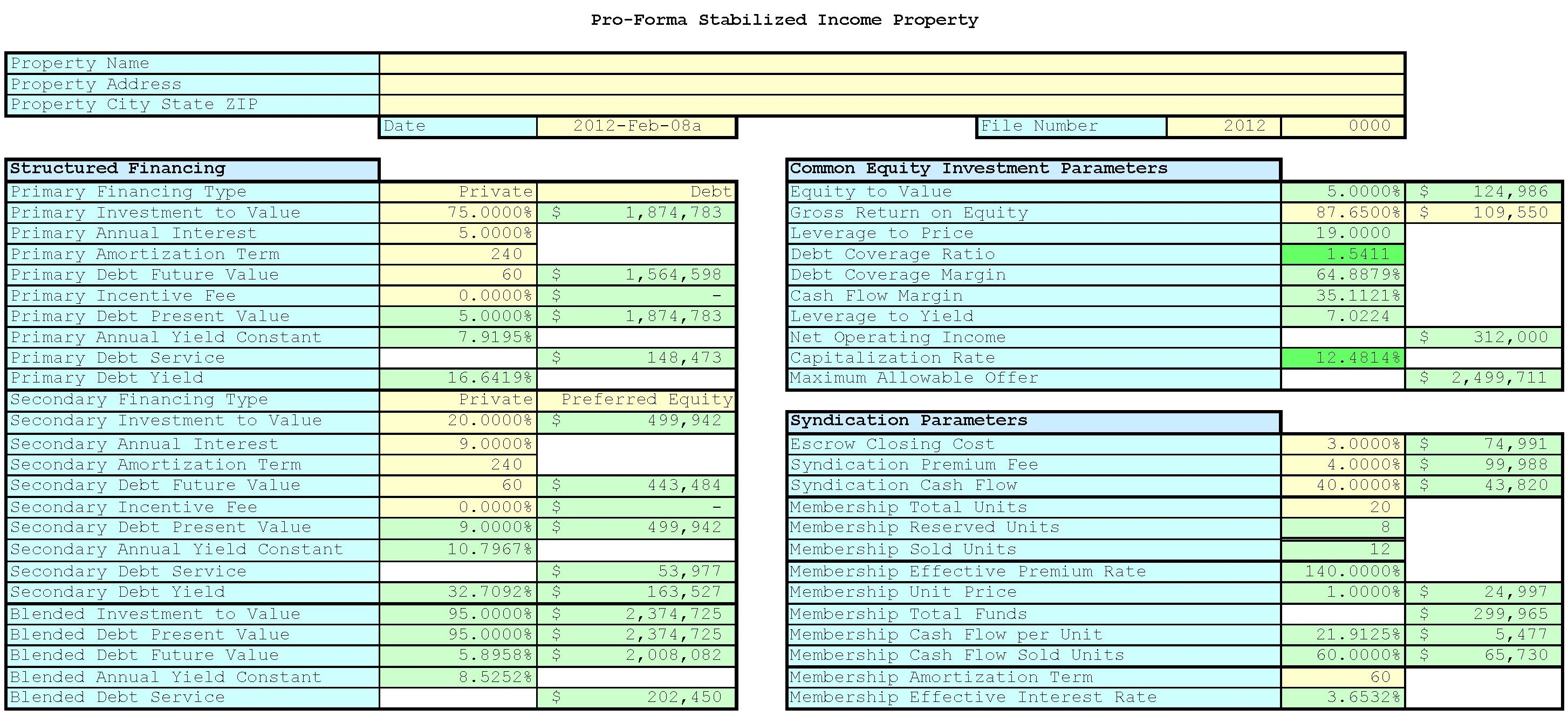Commercial Real Estate Spreadsheet
