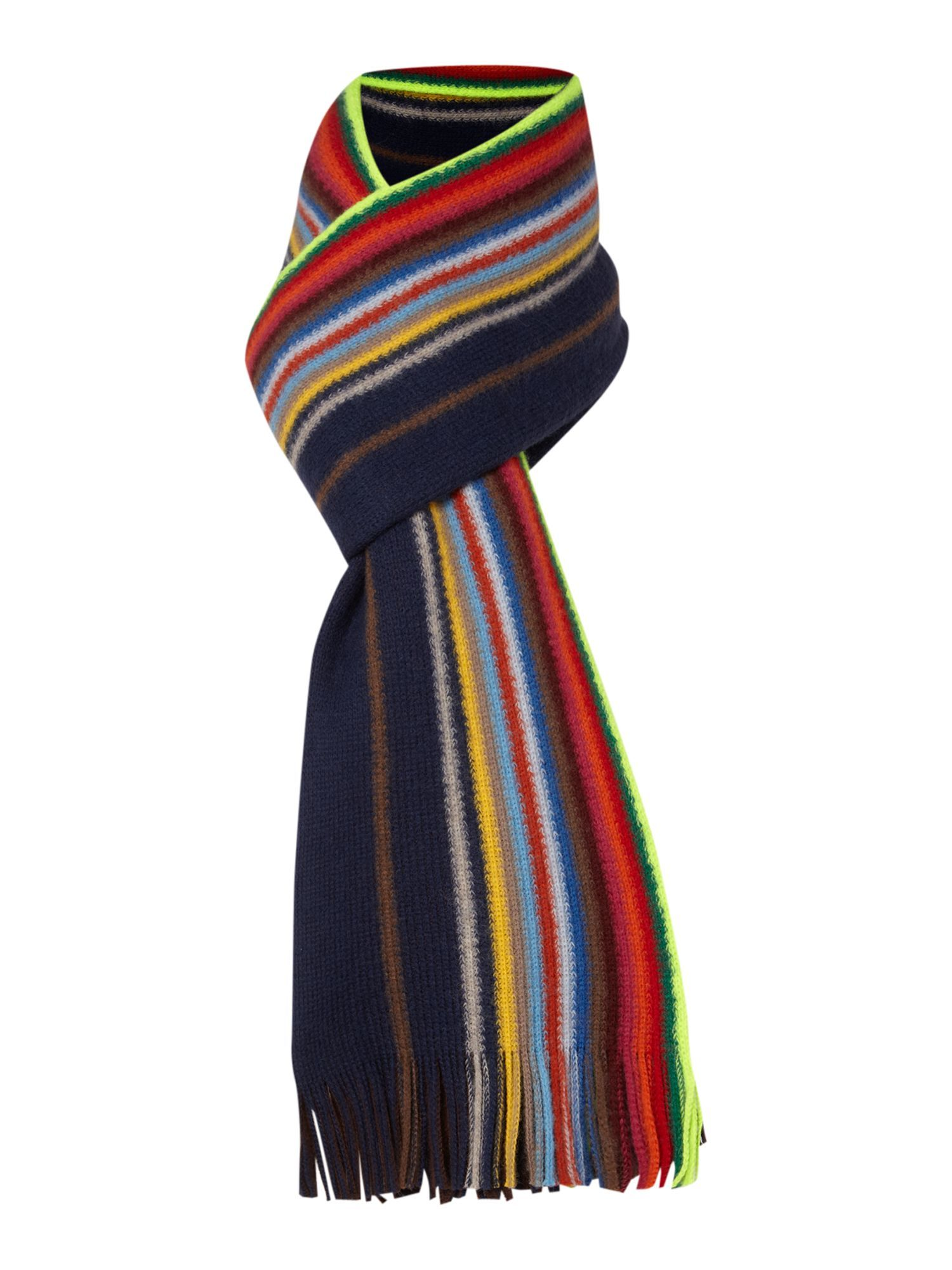 ca4f25089accb Paul smith Reversible Striped Scarf in Multicolor for Men (navy ...