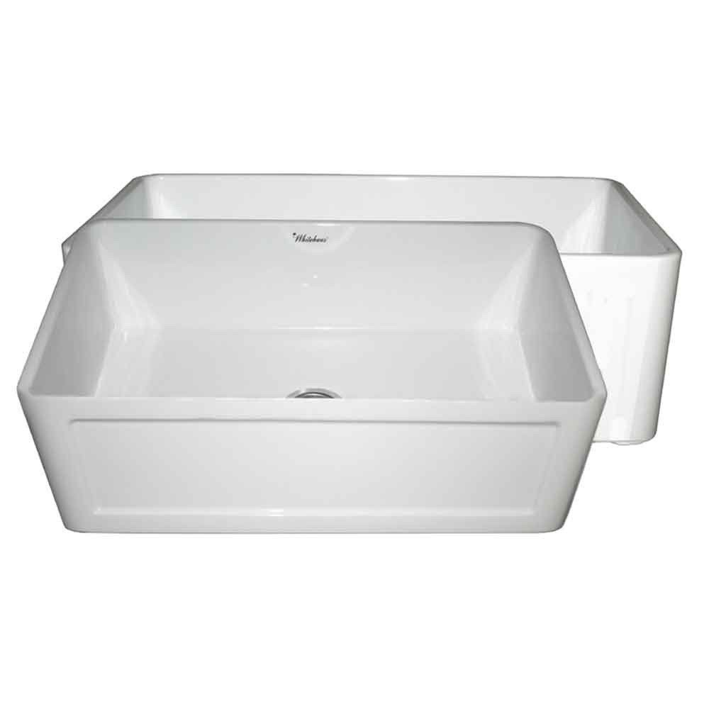 Farmhouse 27 Inch Reversible Plain Front Concave Fireclay