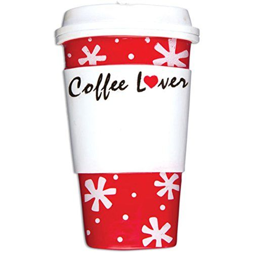 Personalized Coffee Lover Cup Christmas Tree Ornament 2019