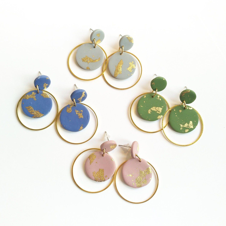 Statementohrringe. Kreolen in verschiedenen Farben. Geometrische Ohrringe. Statement Ohrringe. Kreolen. Schnick Schnack Schön
