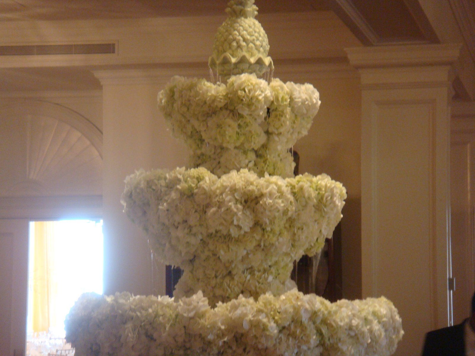 9 feet tall fountain covered with flowers hows that for a