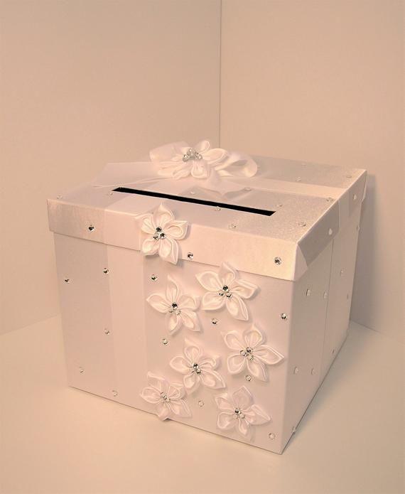 wedding quinceañerasweet 16 card box white gift card box