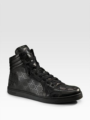 8f29fcbde19 AMAZINGGGGG! high tops from the gucci for men collection at saks5th ...