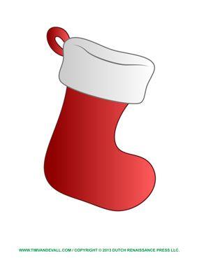 stocking decoration template  Christmas Stocking Clip Art | Christmas stocking template ...