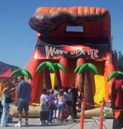 Party Rentals Phoenix Inflatable Slide Rental Wave of Fire http