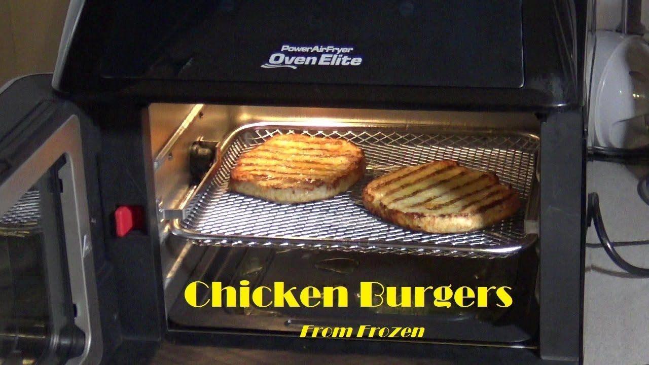 Chicken Burgers, From Frozen, Power Air Fryer Oven Elite