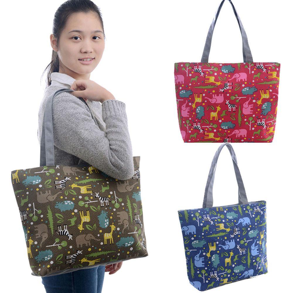 Women Animal Elephants Giraffe ZOO Handbag Shoulder Tote Bags Weekend Shopper #generic #Hobo