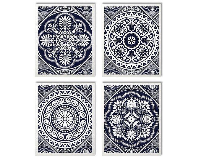 Decorative Tile Art Instant Download Tile Design Geometric Print Art Decorative