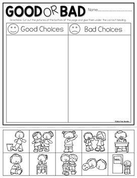 Make Good Choices   Kindergarten worksheets sight words ...