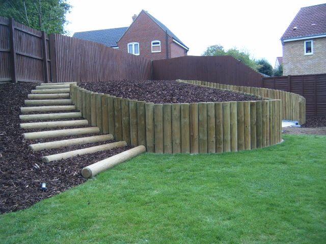 6 Facons De Retenir La Terre Dans Son Jardin Amenagement Jardin En Pente Jardin En Pente Bordure Jardin Bois