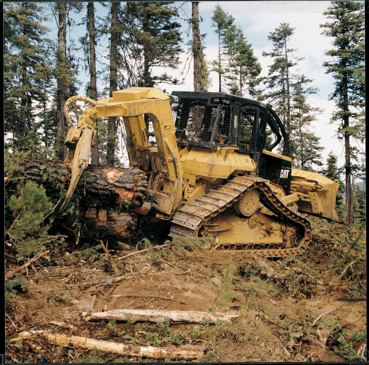 Tree farmer skidder for sale in ny - Cat 527 Skidder Wrestling With Big Timber Cat Forestry
