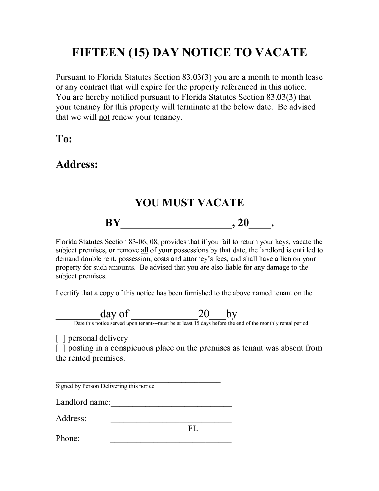 15459080.png   5 Day Eviction Notice  Notice To Vacate Property Template