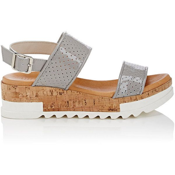 Womens Leather Platform-Wedge Sandals Barneys New York 0EA1vr