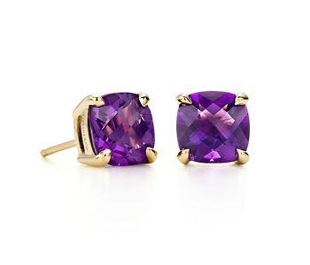 Tiffany Sparklers Amethyst Earrings