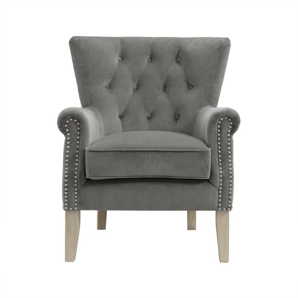 Dorel Tilda Gray Accent Chair Accent Chairs Grey Accent Chair