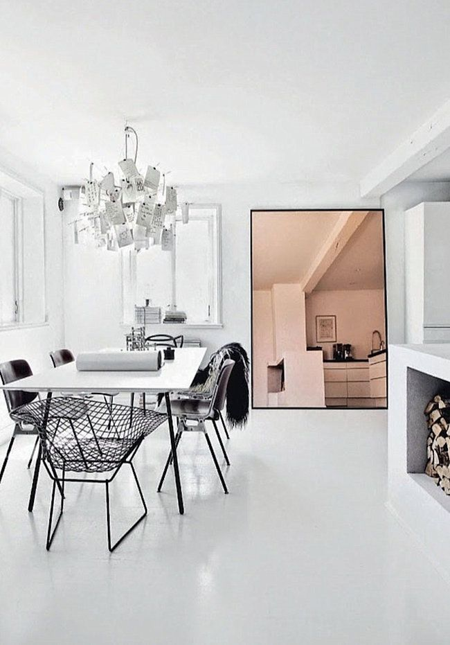 A Trendy Reflection Tinted Mirror Style Interior Dining Room Design House Interior
