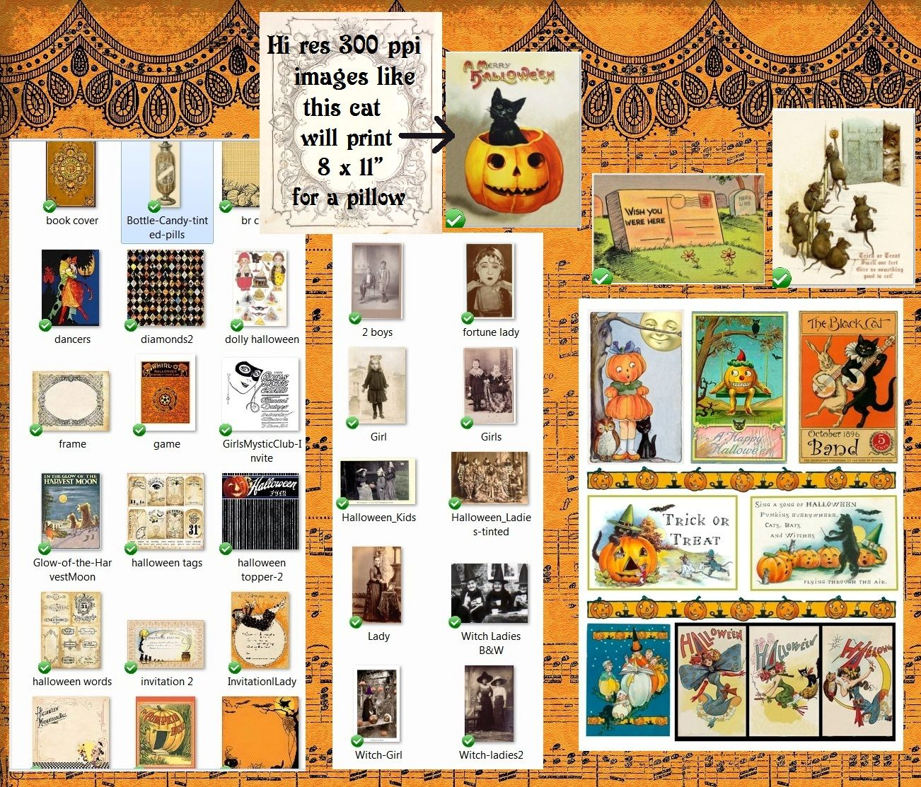 More Halloween Digital Files - Preview, Giveaways and Big SALE News!