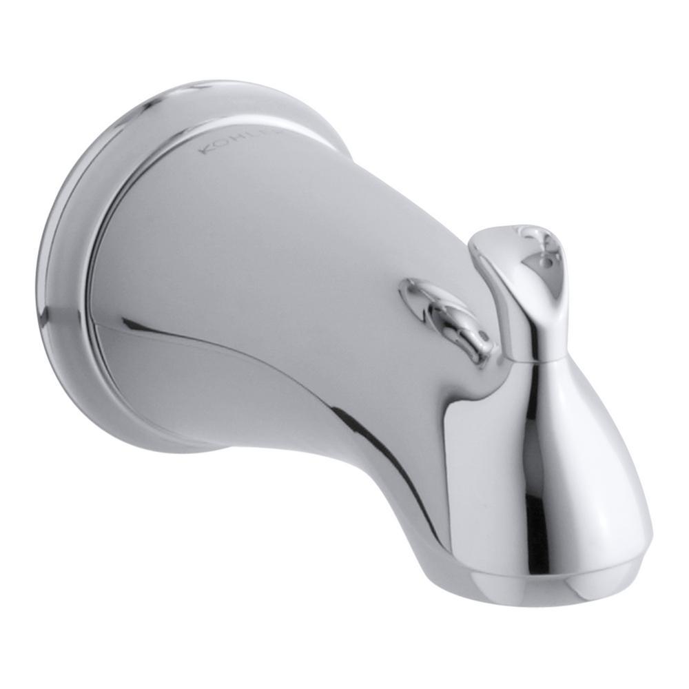 Kohler Forte Sculpted Diverter Bath Spout In Polished Chrome With Slip Fit Connection Polished Chrome Kohler Forte Kohler