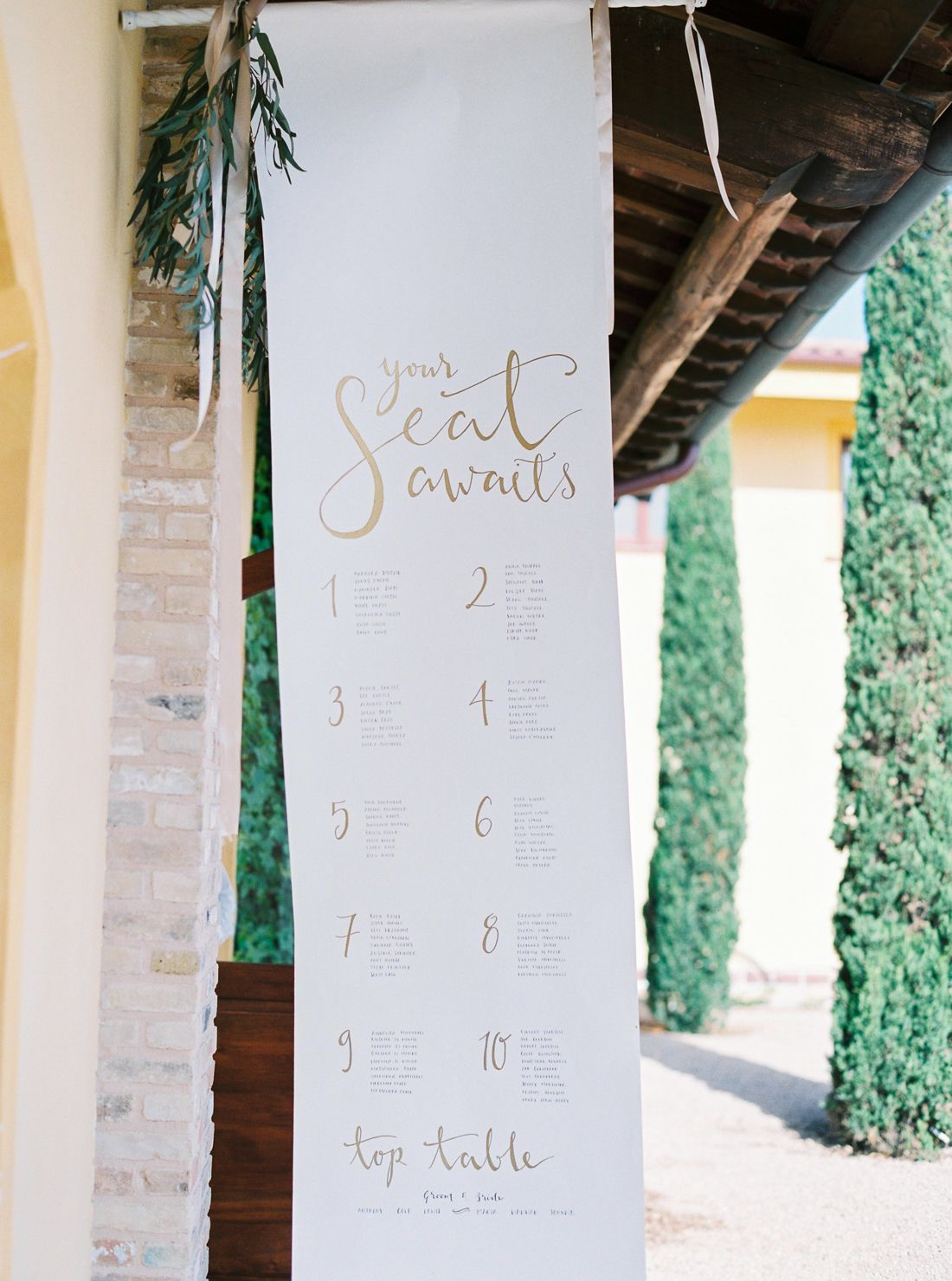 We Found The Prettiest Seating Chart Ever Inspiration